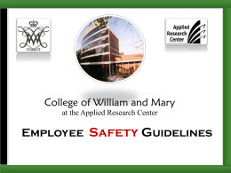 ARC Employee Safety Guidelines