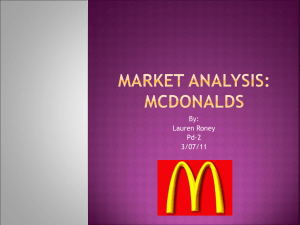 Market Analysis: McDonalds