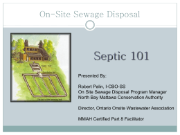 Septic 101, North Bay Mattawa Conservation Authority