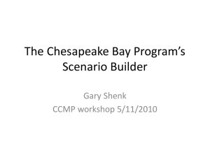 The Chesapeake Bay Program`s Scenario Builder