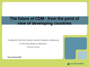 CDM from LDC perspective by Pascale Junker, Lux Dev