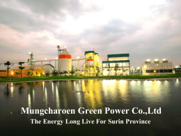 Mungcharoen Green Power Co. report to MEE – Net