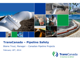 TransCanada – Pipeline Safety