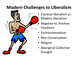 Modern Challenges to Liberalism
