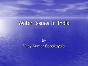Water Issues In India