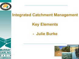 Integrated Catchment Management Key Elements