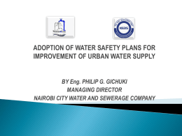 ADOPTION OF WATER SAFETY PLANS FOR - SWAP-bfz