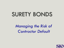 Managing the Risk of Contractor Default