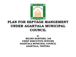 Presentation on Plan for Septage Management in Agaratala City