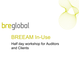 Why BREEAM In-Use?