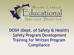 APP Training - North Central Education Service District