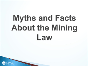 Myths & Facts About the Mining Law