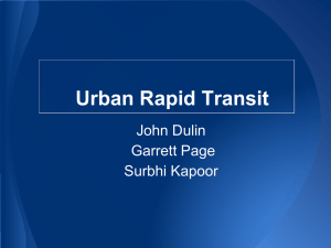 Urban Rapid Transit