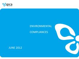 Environment Compliances June 2012