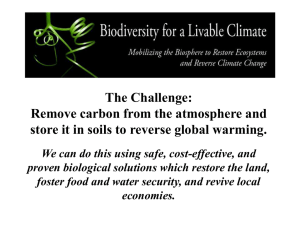 Powerpoint - Biodiversity for a Livable Climate