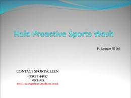 Halo Proactive Sportswash