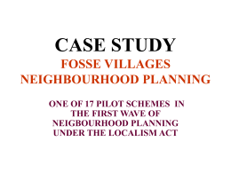 Fosse Village Neighbourhood Plan presentation
