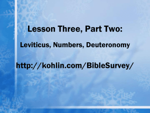 Presentation Three-B: The Laws of Moses