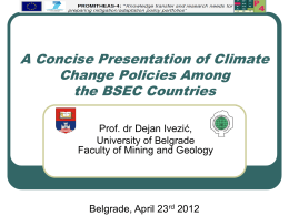 A Concise Presentation of Climate Change Policies