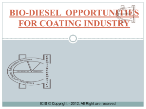 BIO-DIESEL OPPORTUNITIES FOR COATING INDUSTRY