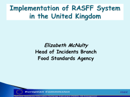 The Rapid Alert System for Food and Feed (RASFF)Implementation