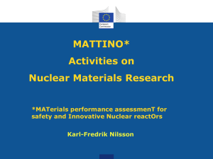 MATTINO/Activities on Nuclear Materials Research