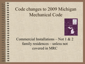 net occupiable floor area - Mechanical Inspectors of Michigan