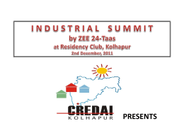 industrial summit, kolhapur 2nd, december, 2011