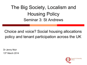 presentation - The Big Society, Localism & Housing Policy