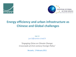 Climate policies in China: