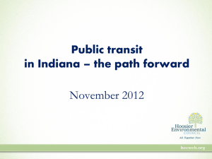 Public transit in Indiana - Hoosier Environmental Council