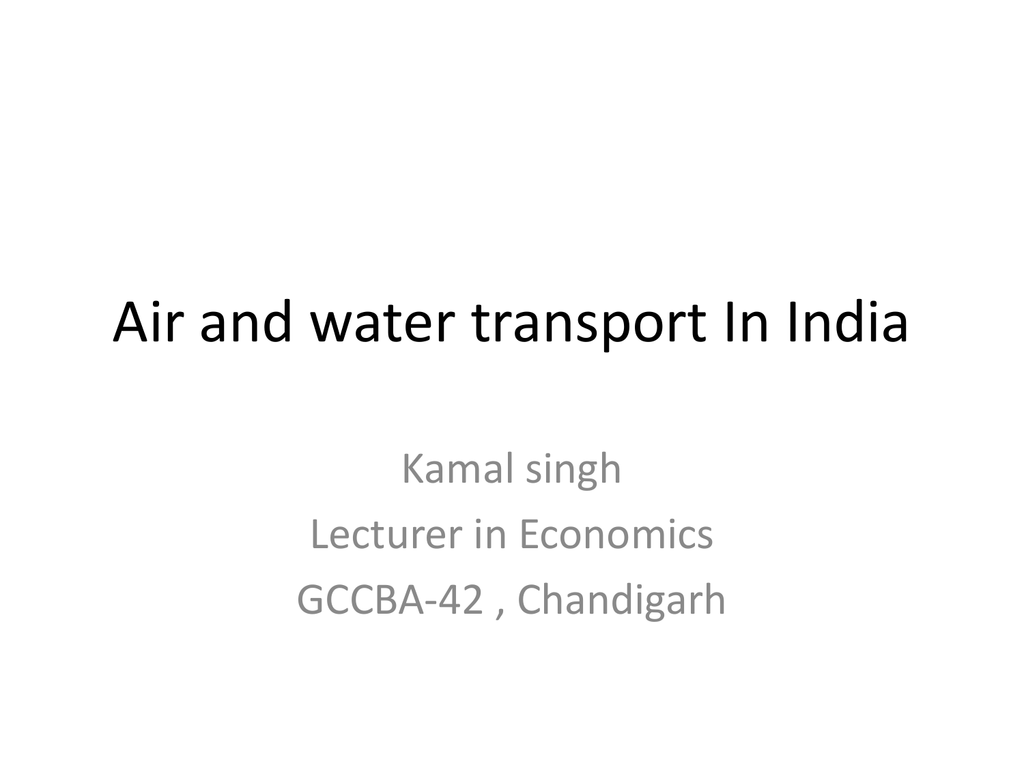 Air and water transport In India