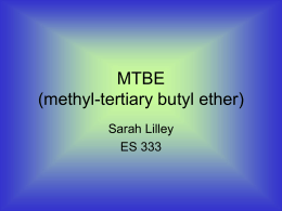MTBE (methyl-tertiary butyl ether)
