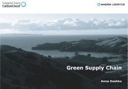 Green Supply Chain_Maersk Logistics