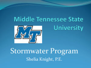 powerpoint-stormwater - Middle Tennessee State University
