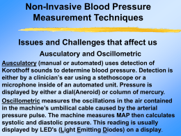 Non-Invasive Blood Pressure Measurement Techniques and Issues