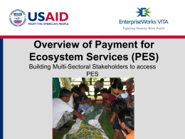 Payment for Ecosystem Services Overview and Philippines Water