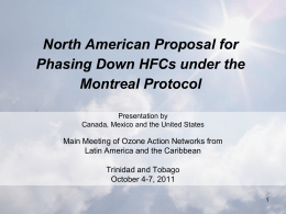 iv. North American Proposal for phasing down of
