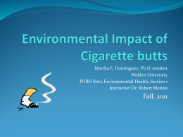 Environmental Impact of Cigarette butts - unasola
