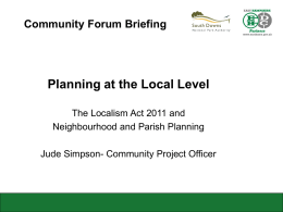 Neighbourhood Planning presentation to community forums (786 Kb
