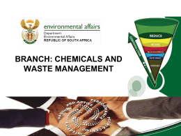 Chemicals and waste management - Centre for Environmental Rights