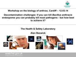 The Health and Safety Laboratory – Alan Beswick