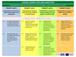 central europe 2014-2020 objectives