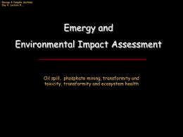 Lecture 9: Environmental Impact Assessment