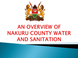 an overview of nakuru county water and sanitation