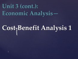 Unit 3_Economic Analysis_Cost