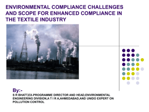 environmental compliance challenges and scope for enhanced