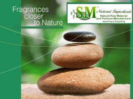 Diapositive 1 - SM Natural Ingredients