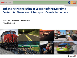 Donald Roussel - Enhancing Partnerships in Support of the Maritime