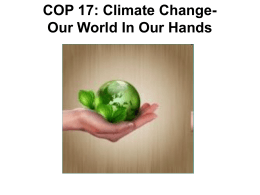WHAT IS COP 17? - KZN Department of Agriculture